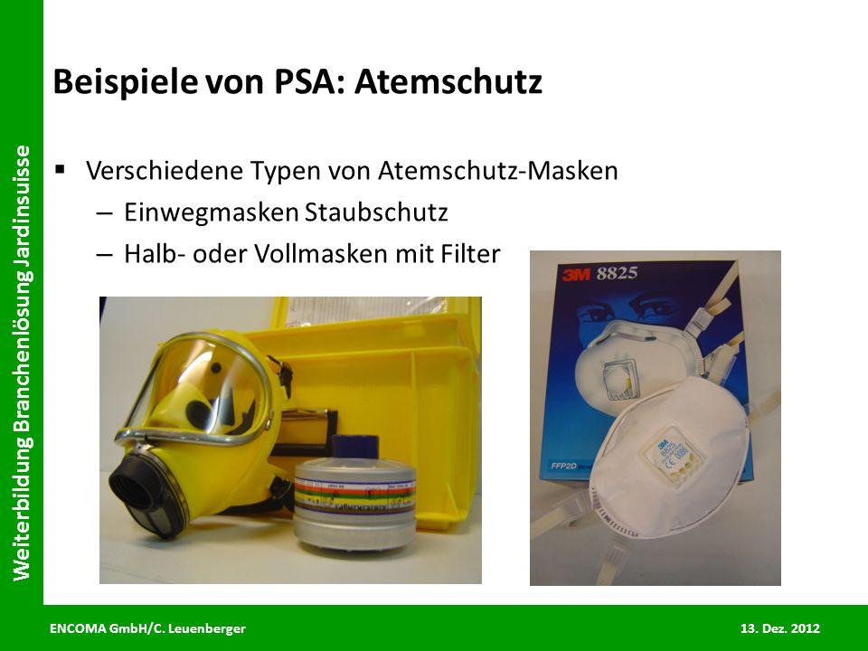 Beispiele von PSA: Atemschutz