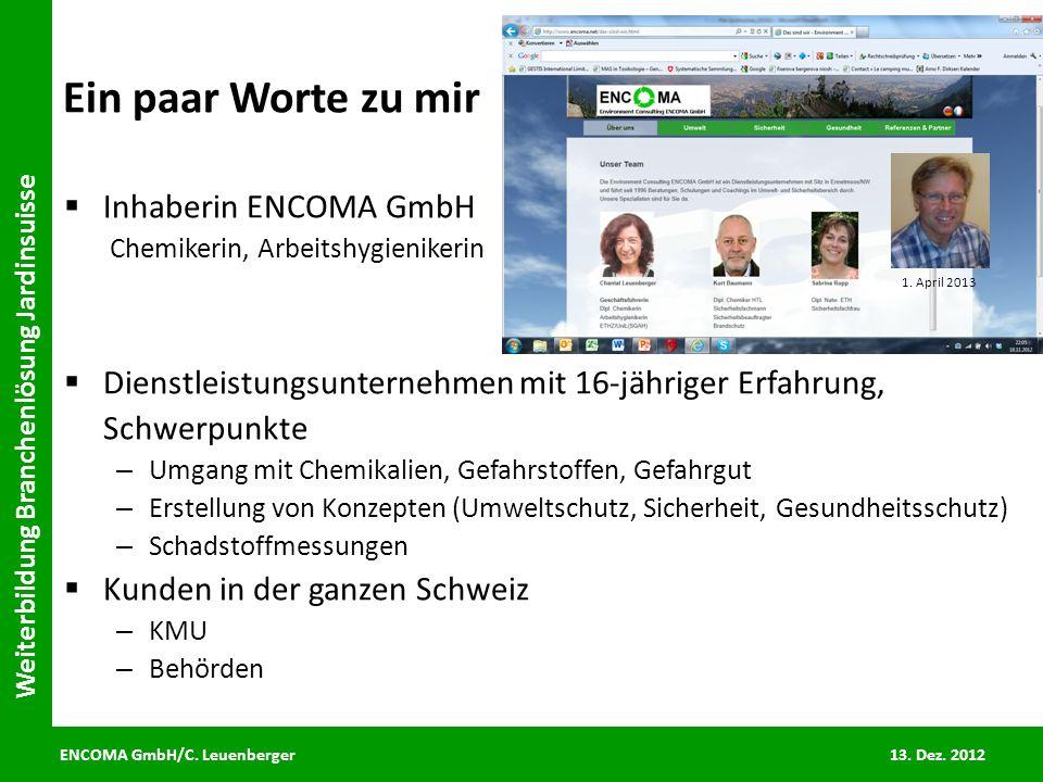 Ein paar Worte zu mir Inhaberin ENCOMA GmbH