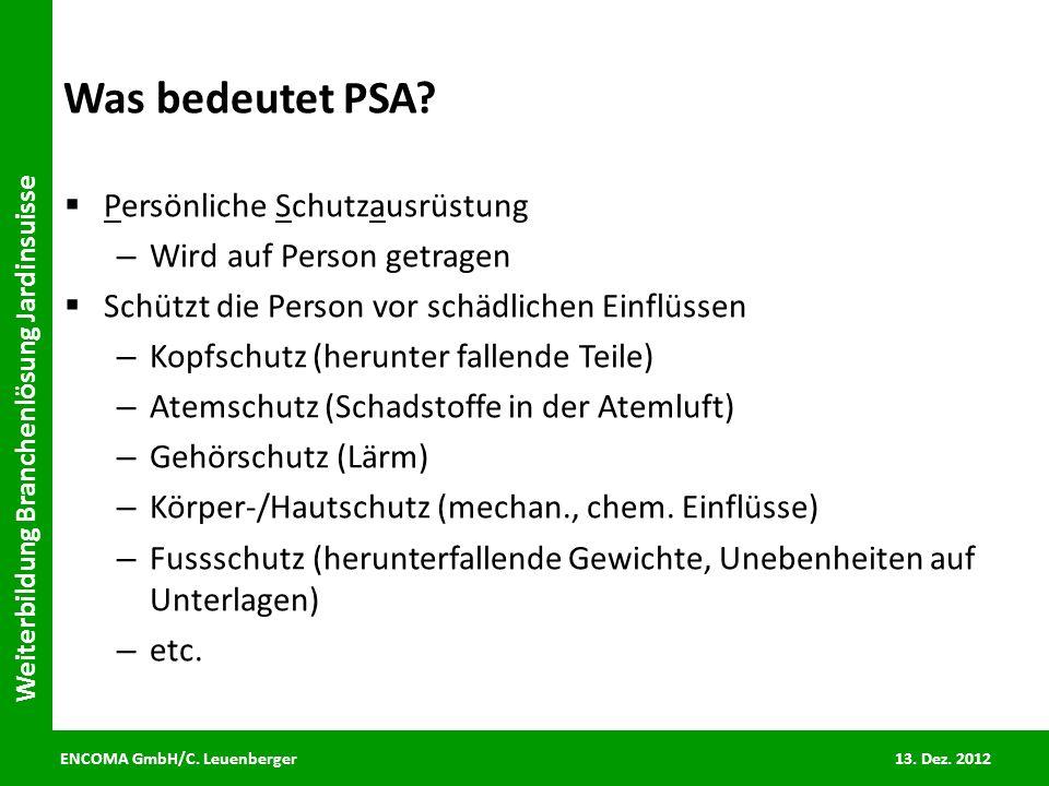 Was bedeutet PSA Persönliche Schutzausrüstung