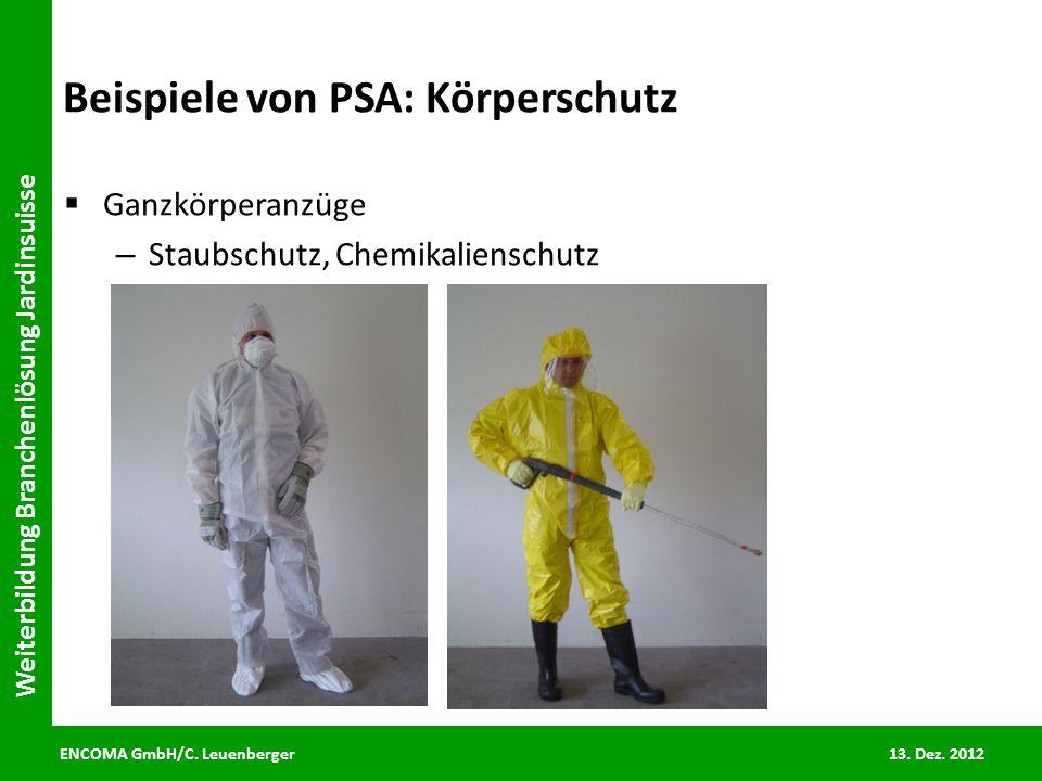 Beispiele von PSA: Körperschutz