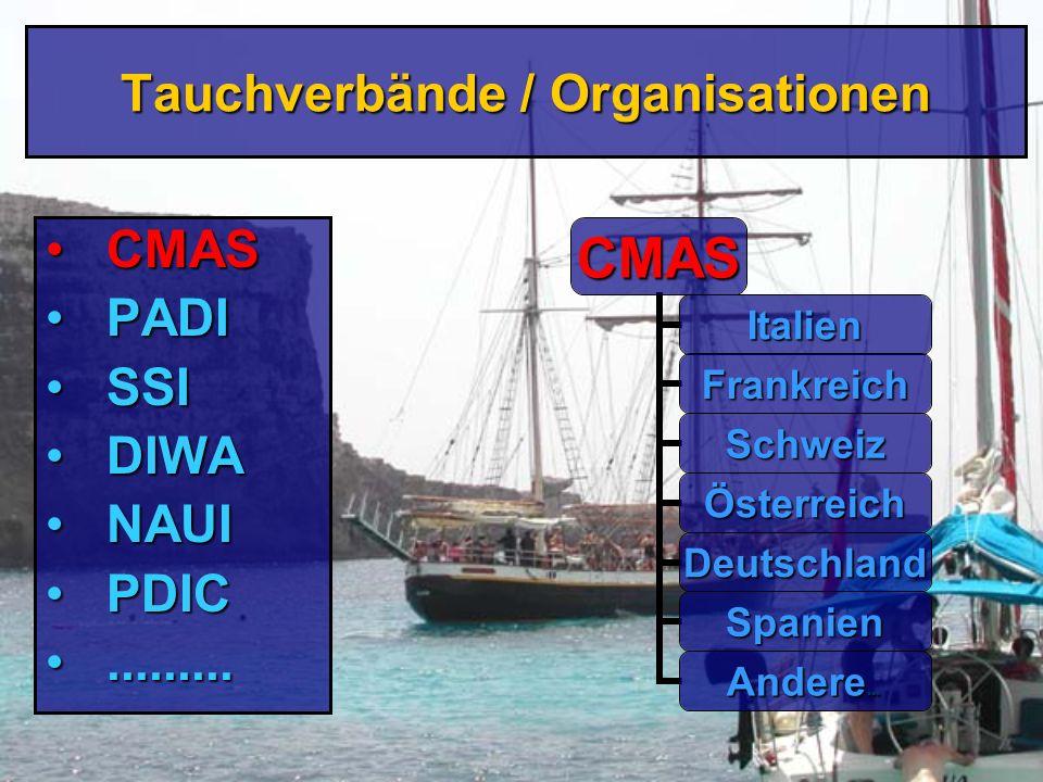 Tauchverbände / Organisationen
