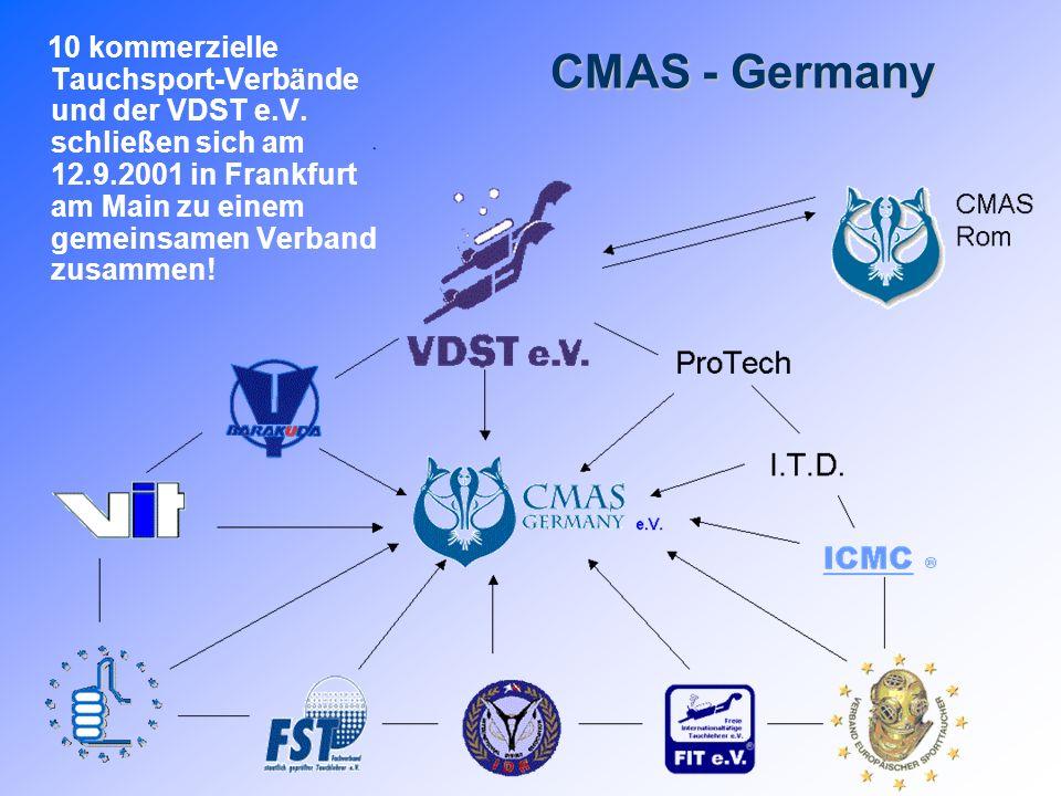 10 kommerzielle Tauchsport-Verbände und der VDST e. V