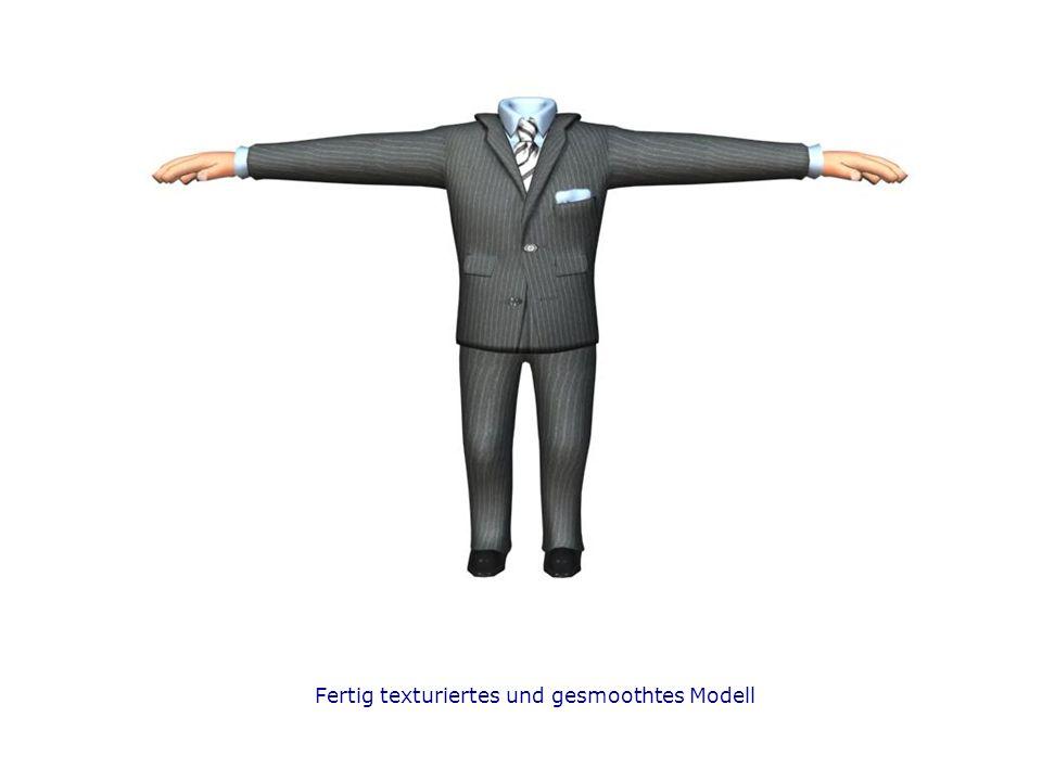 Fertig texturiertes und gesmoothtes Modell