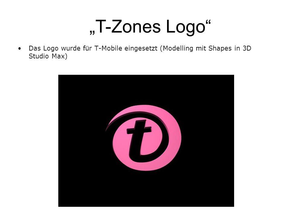 """""""T-Zones Logo Das Logo wurde für T-Mobile eingesetzt (Modelling mit Shapes in 3D Studio Max)"""