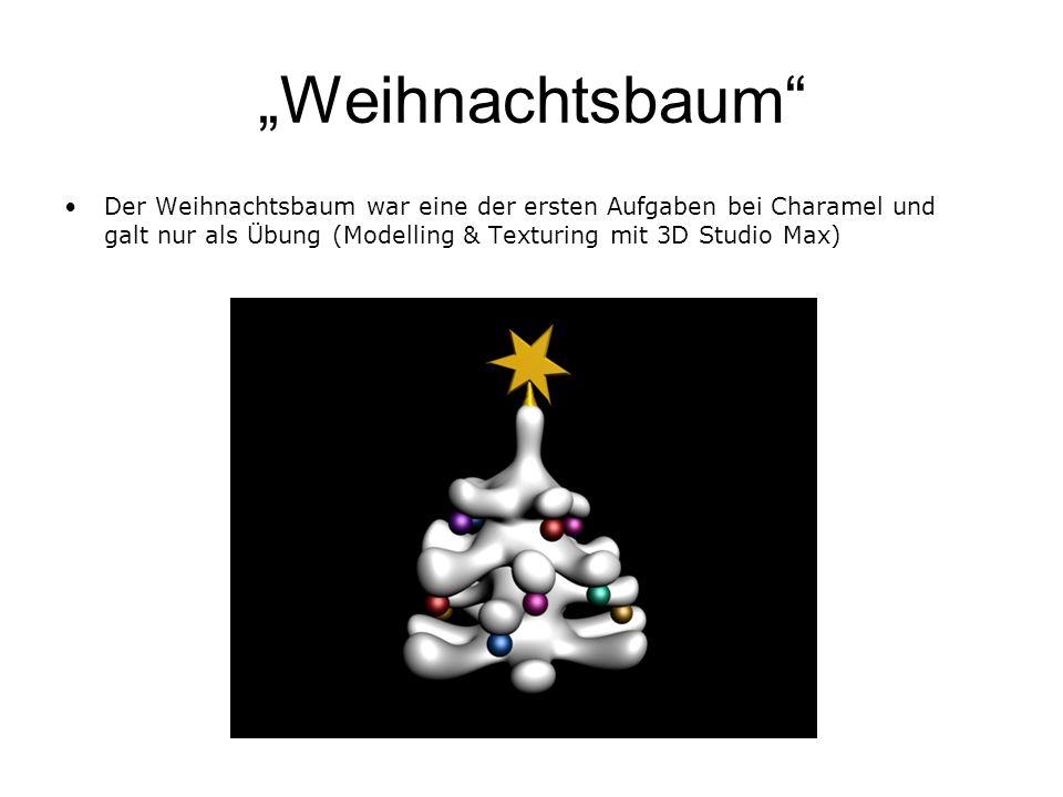 """""""Weihnachtsbaum Der Weihnachtsbaum war eine der ersten Aufgaben bei Charamel und galt nur als Übung (Modelling & Texturing mit 3D Studio Max)"""