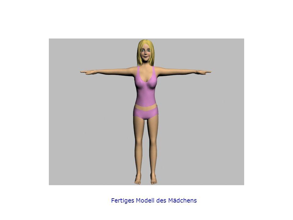 Fertiges Modell des Mädchens