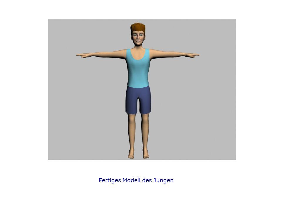 Fertiges Modell des Jungen
