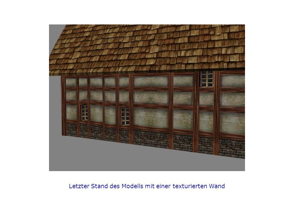 Letzter Stand des Modells mit einer texturierten Wand