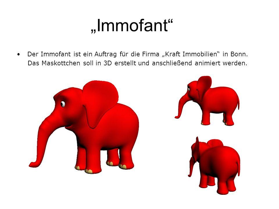 """""""Immofant Der Immofant ist ein Auftrag für die Firma """"Kraft Immobilien in Bonn."""