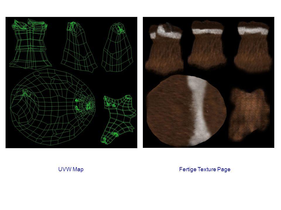 UVW Map Fertige Texture Page