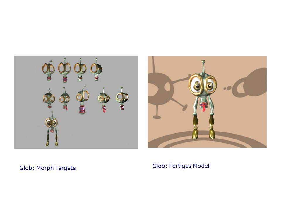 Glob: Fertiges Modell Glob: Morph Targets
