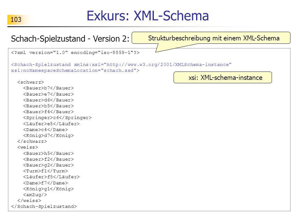 Exkurs: XML-Schema Schach-Spielzustand - Version 2: