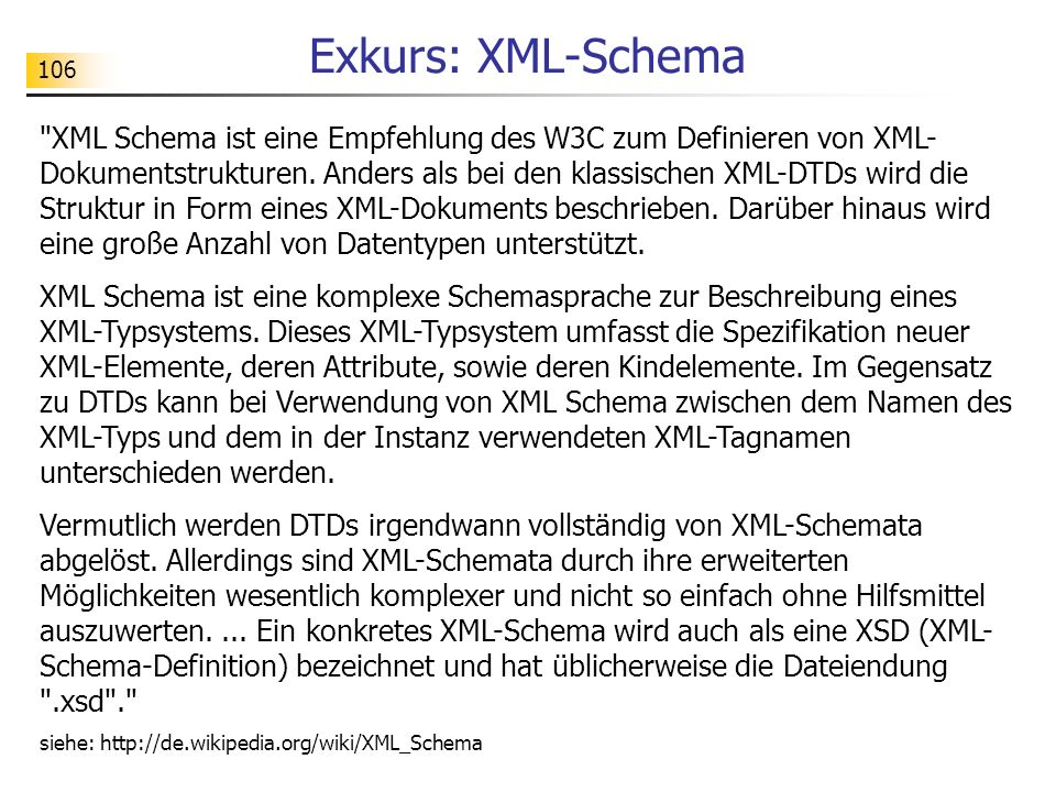 Exkurs: XML-Schema