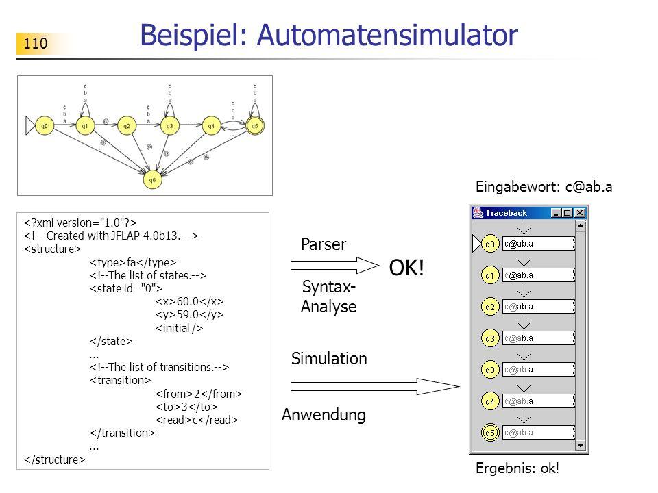 Beispiel: Automatensimulator
