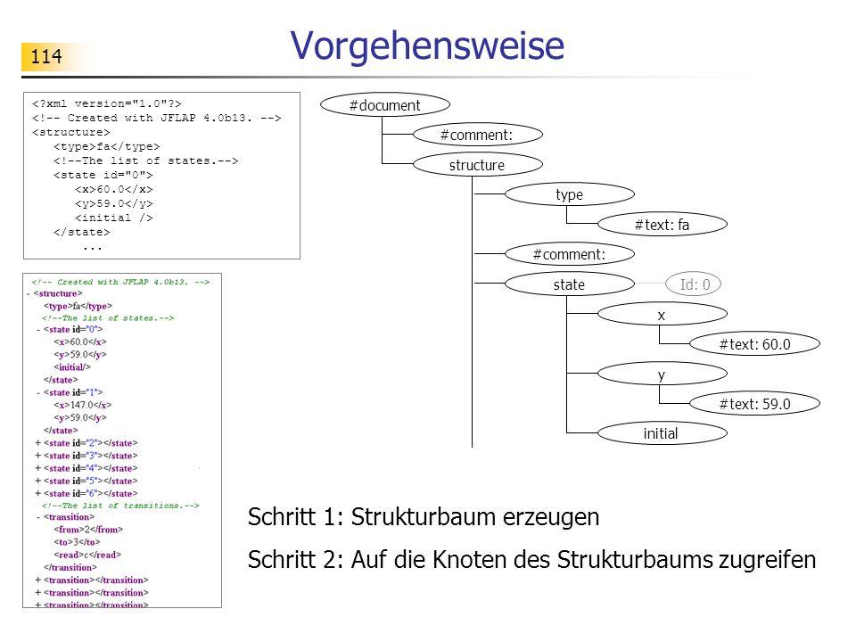 Vorgehensweise Schritt 1: Strukturbaum erzeugen