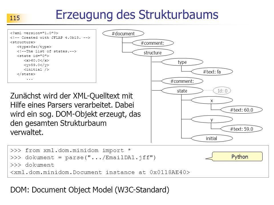 Erzeugung des Strukturbaums