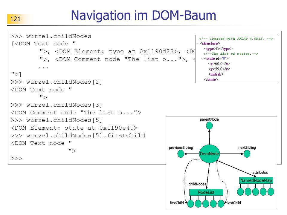 Navigation im DOM-Baum