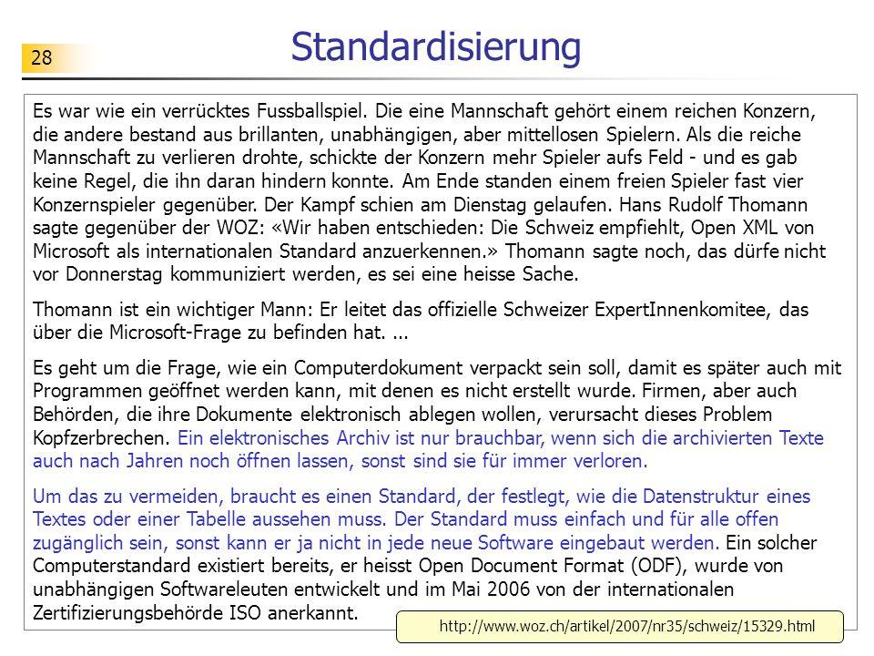 Standardisierung