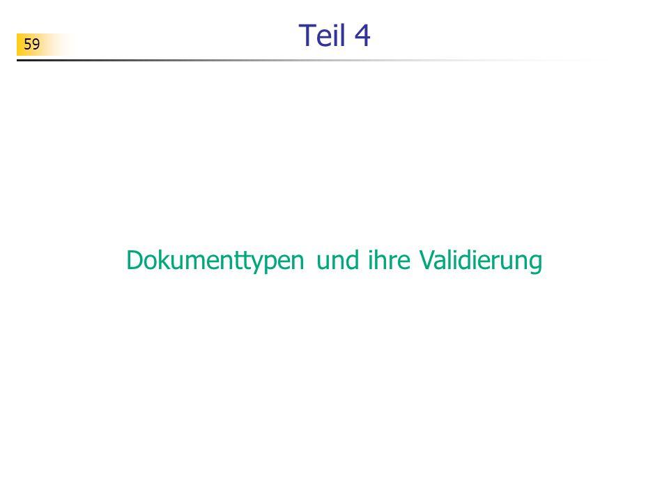 Dokumenttypen und ihre Validierung