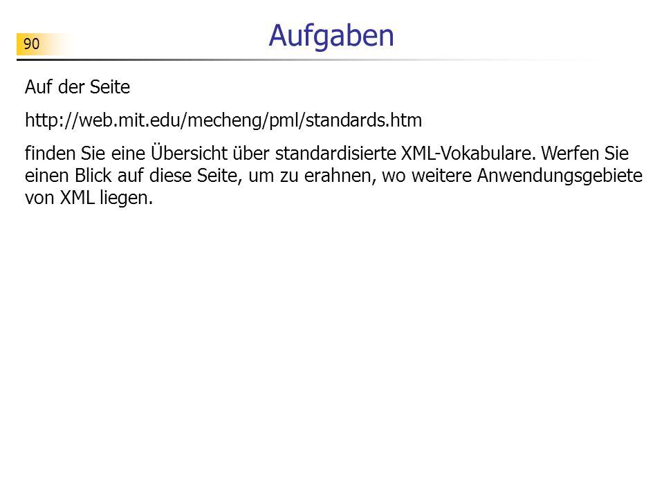 Aufgaben Auf der Seite http://web.mit.edu/mecheng/pml/standards.htm