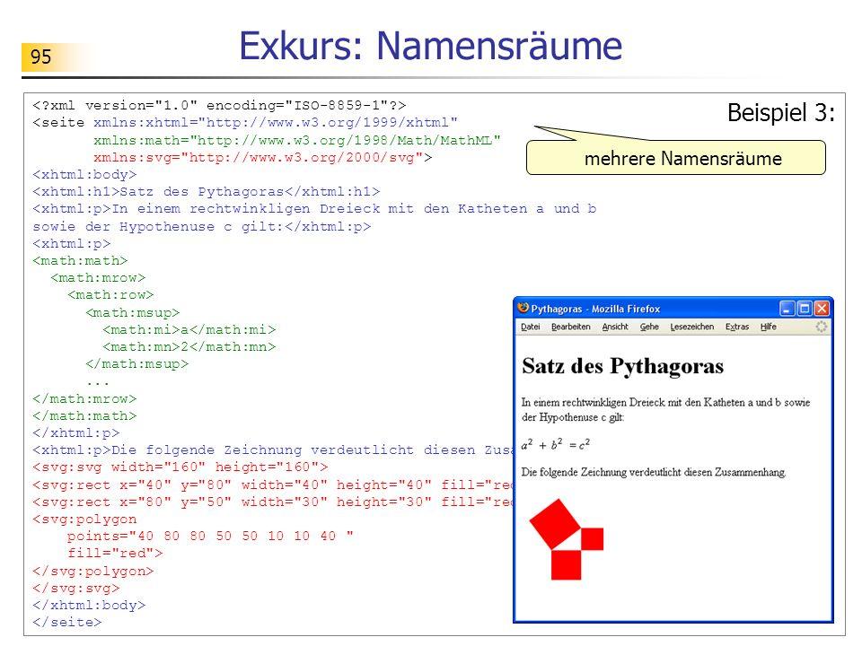 Exkurs: Namensräume Beispiel 3: mehrere Namensräume
