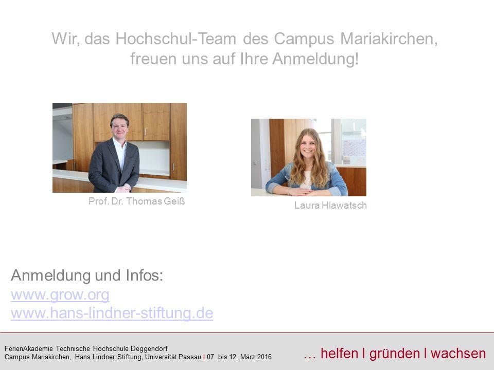 Wir, das Hochschul-Team des Campus Mariakirchen, freuen uns auf Ihre Anmeldung!