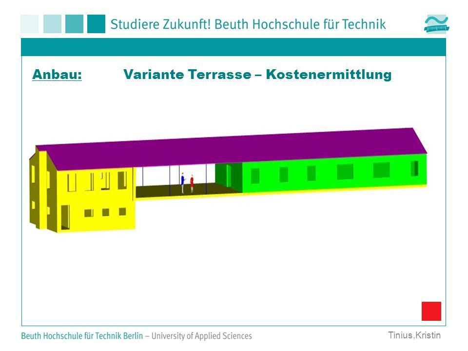 Variante Terrasse – Kostenermittlung