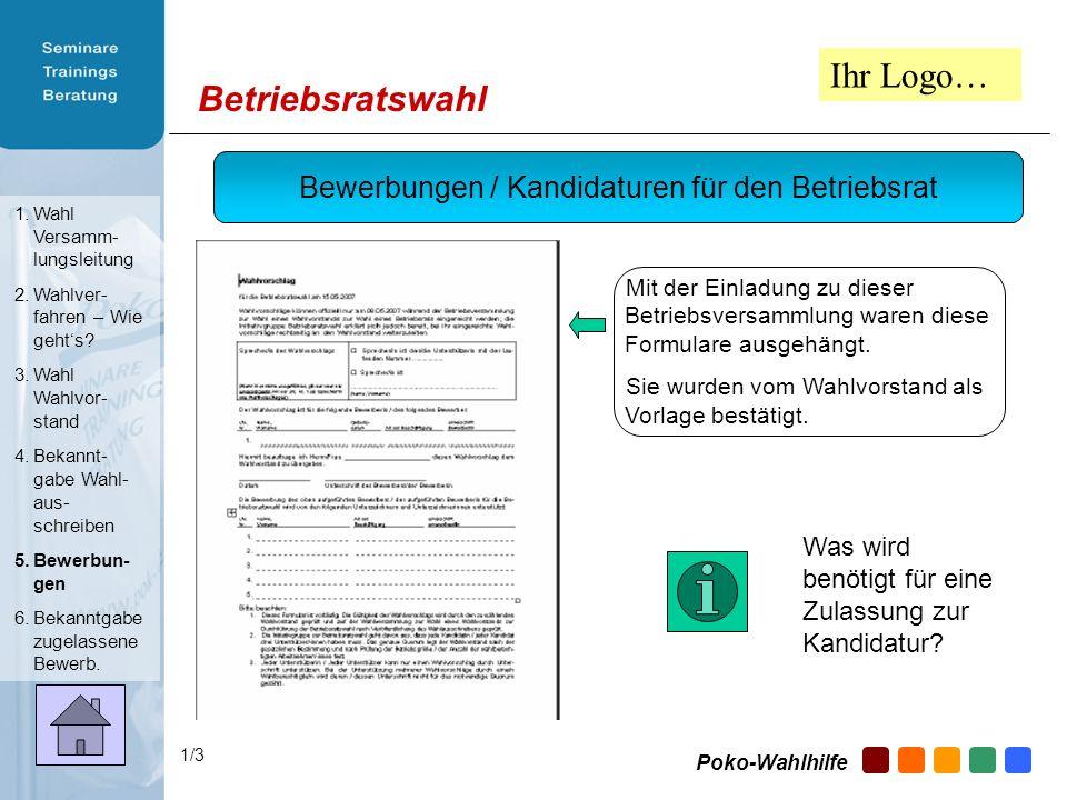 Bewerbungen / Kandidaturen für den Betriebsrat