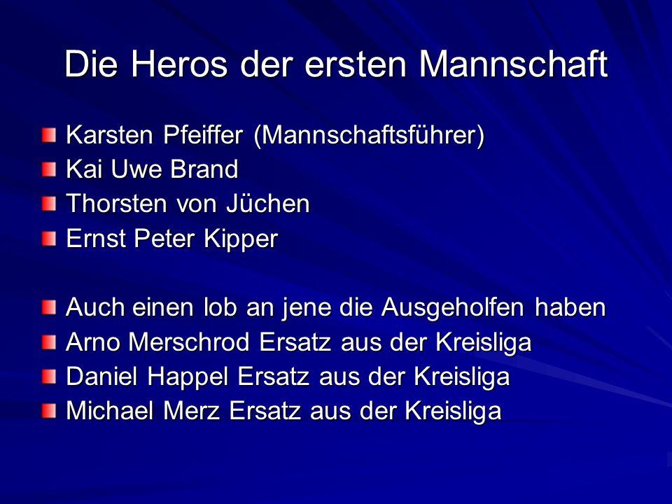Die Heros der ersten Mannschaft