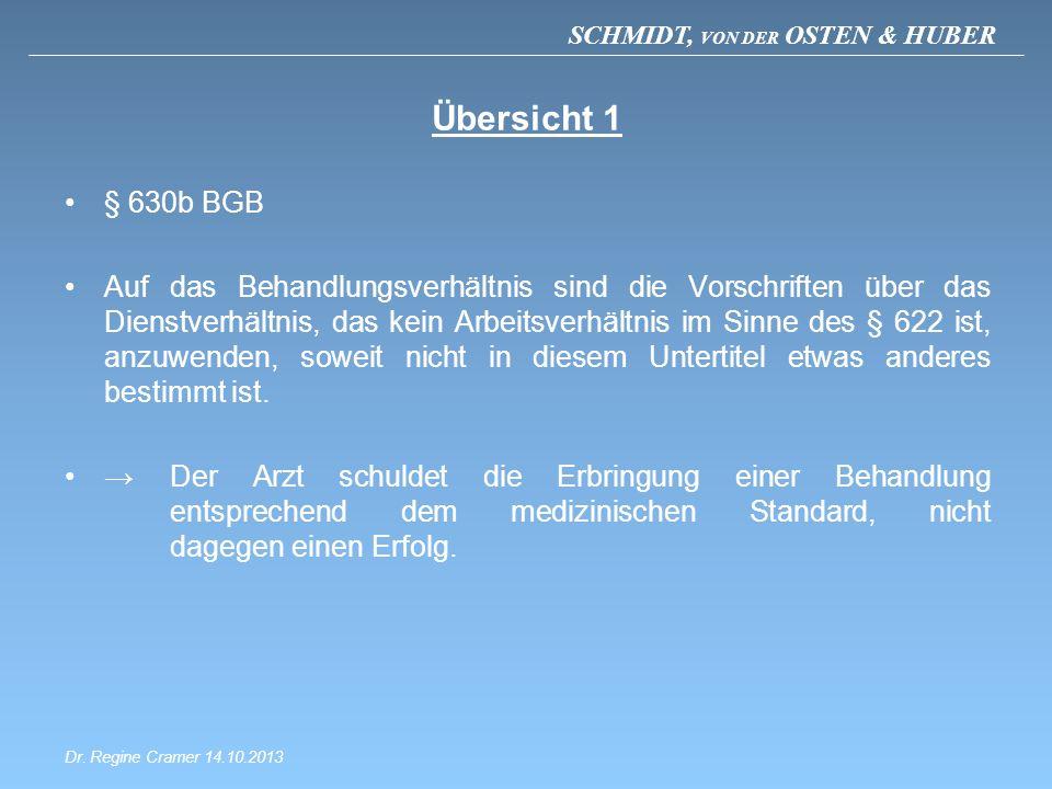 Übersicht 1 § 630b BGB.