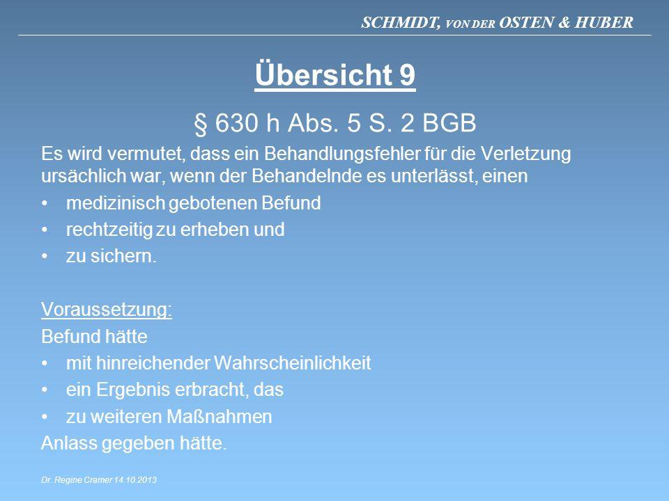 Übersicht 9 § 630 h Abs. 5 S. 2 BGB.