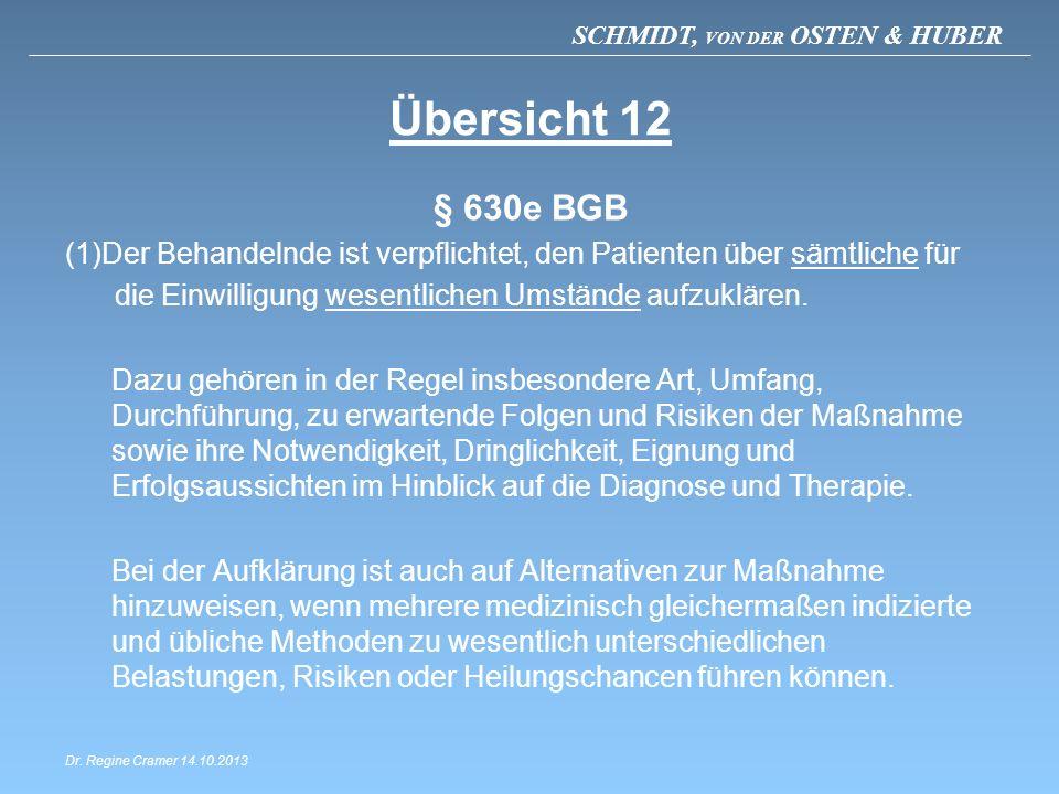 Übersicht 12 § 630e BGB. Der Behandelnde ist verpflichtet, den Patienten über sämtliche für. die Einwilligung wesentlichen Umstände aufzuklären.