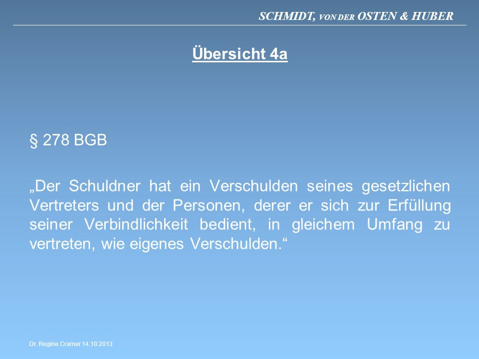 Übersicht 4a § 278 BGB.