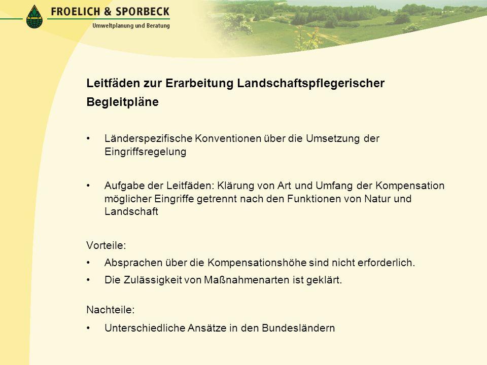 Leitfäden zur Erarbeitung Landschaftspflegerischer Begleitpläne