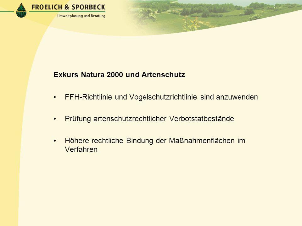 Exkurs Natura 2000 und Artenschutz