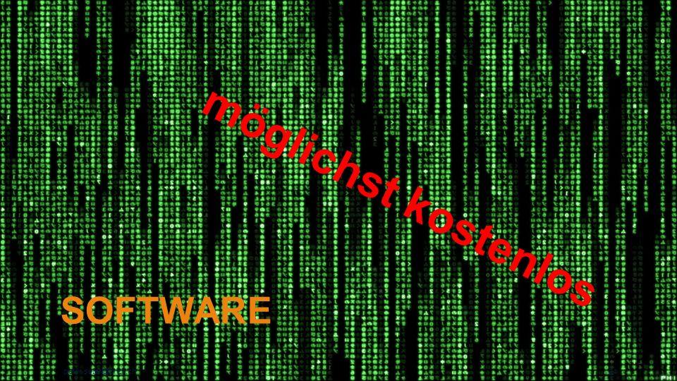 möglichst kostenlos Software peter.suter@phzh.ch