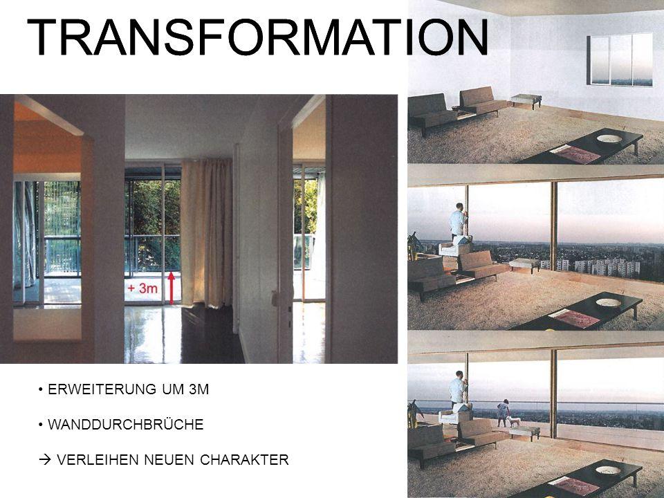 TRANSFORMATION TRANSFORMATION ERWEITERUNG UM 3M WANDDURCHBRÜCHE