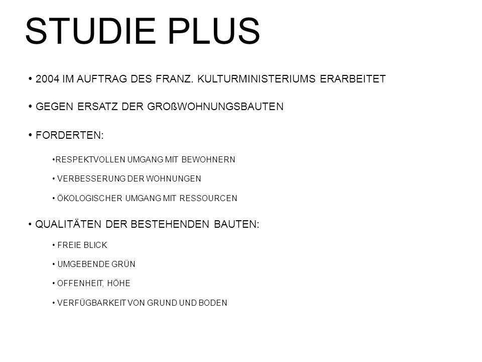 STUDIE PLUS 2004 IM AUFTRAG DES FRANZ. KULTURMINISTERIUMS ERARBEITET