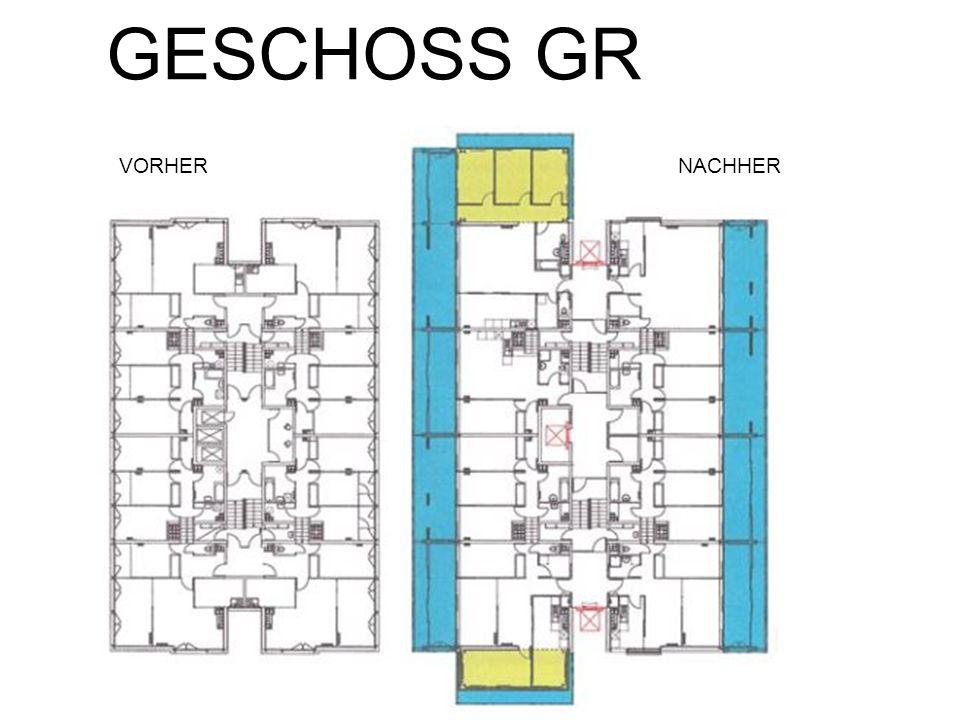 GESCHOSS GR VORHER NACHHER