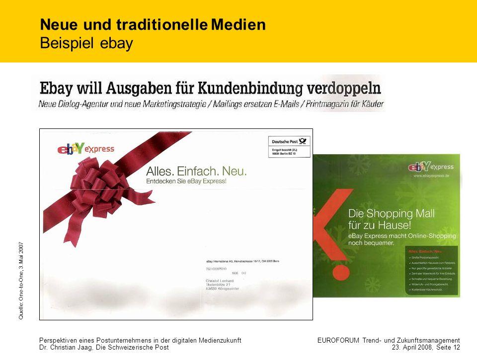 Neue und traditionelle Medien Beispiel ebay