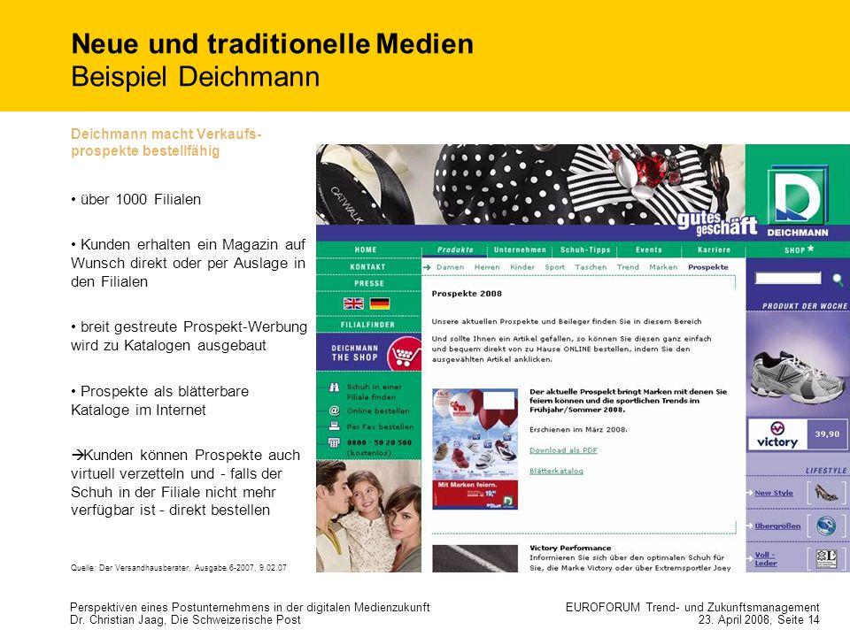 Neue und traditionelle Medien Beispiel Deichmann