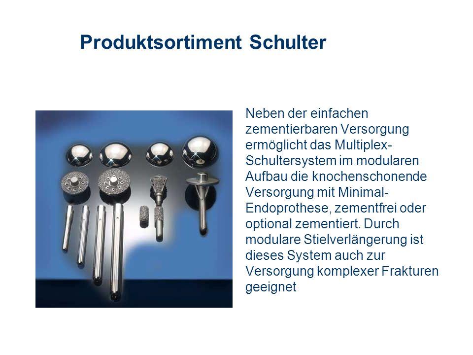 Produktsortiment Schulter