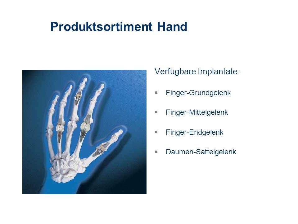 Produktsortiment Hand