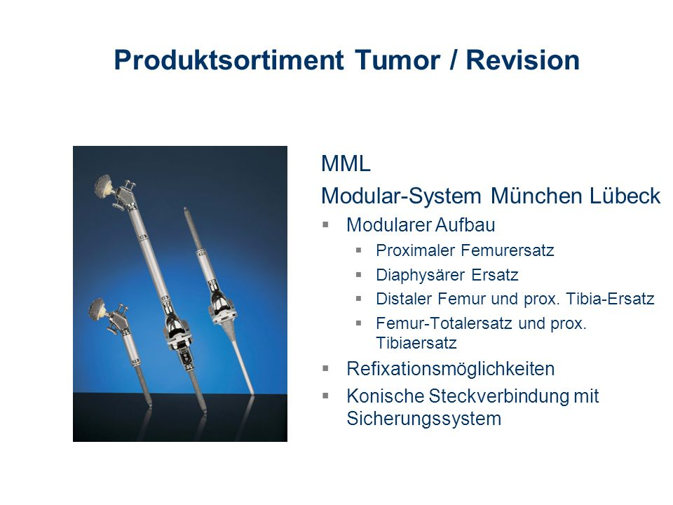 Produktsortiment Tumor / Revision