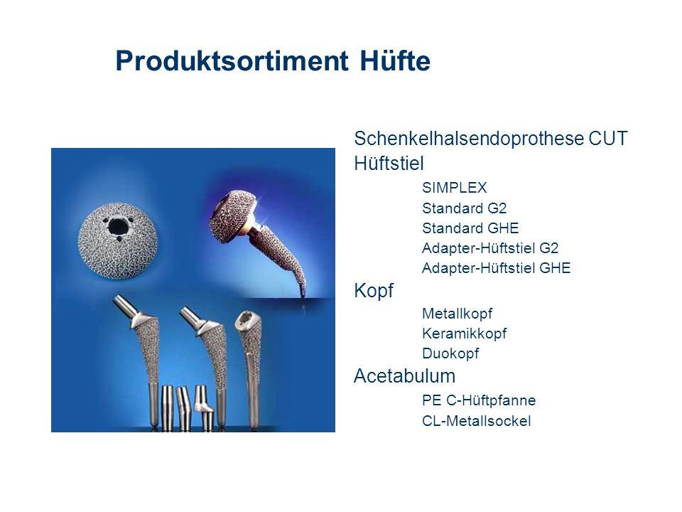 Produktsortiment Hüfte