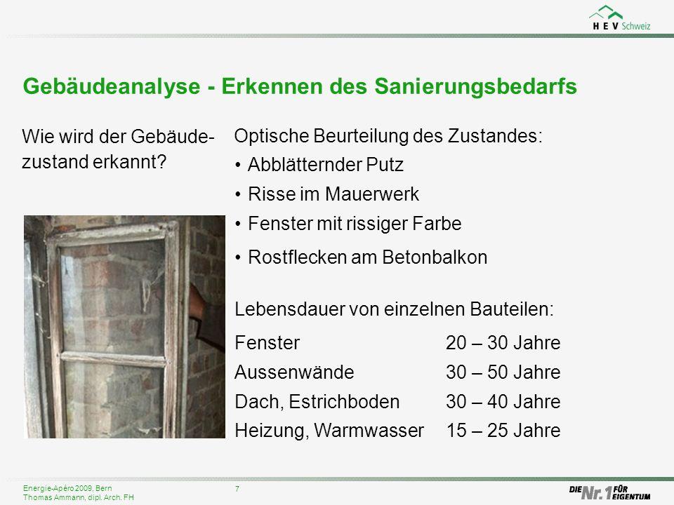 Gebäudeanalyse - Erkennen des Sanierungsbedarfs