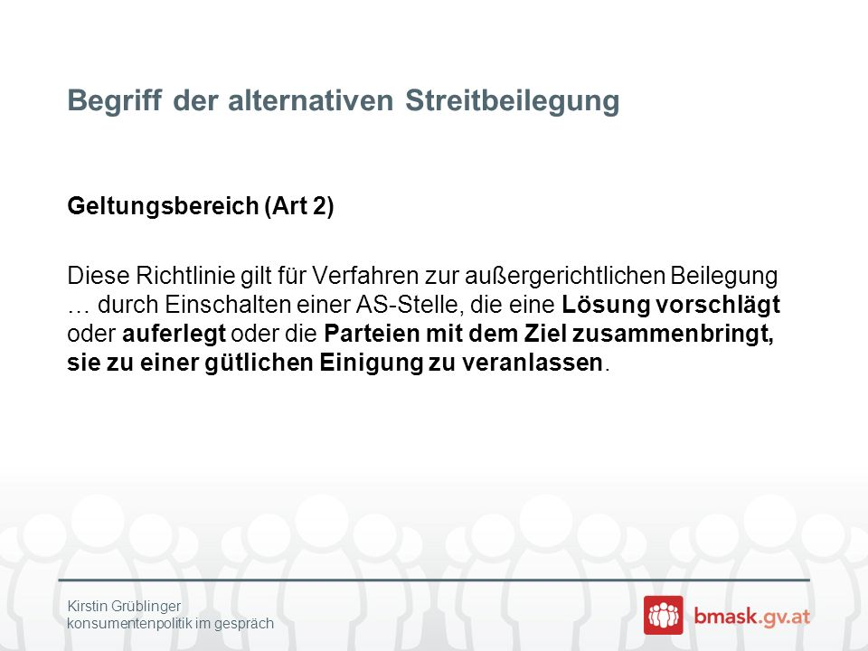 Begriff der alternativen Streitbeilegung
