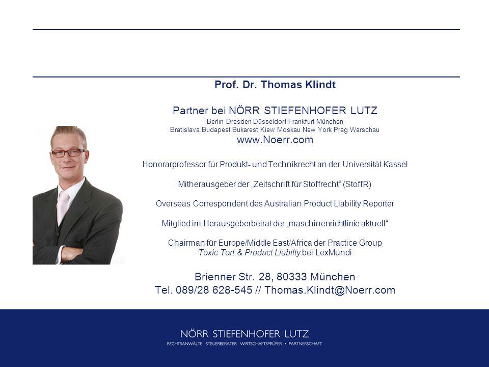 Partner bei NÖRR STIEFENHOFER LUTZ www.Noerr.com