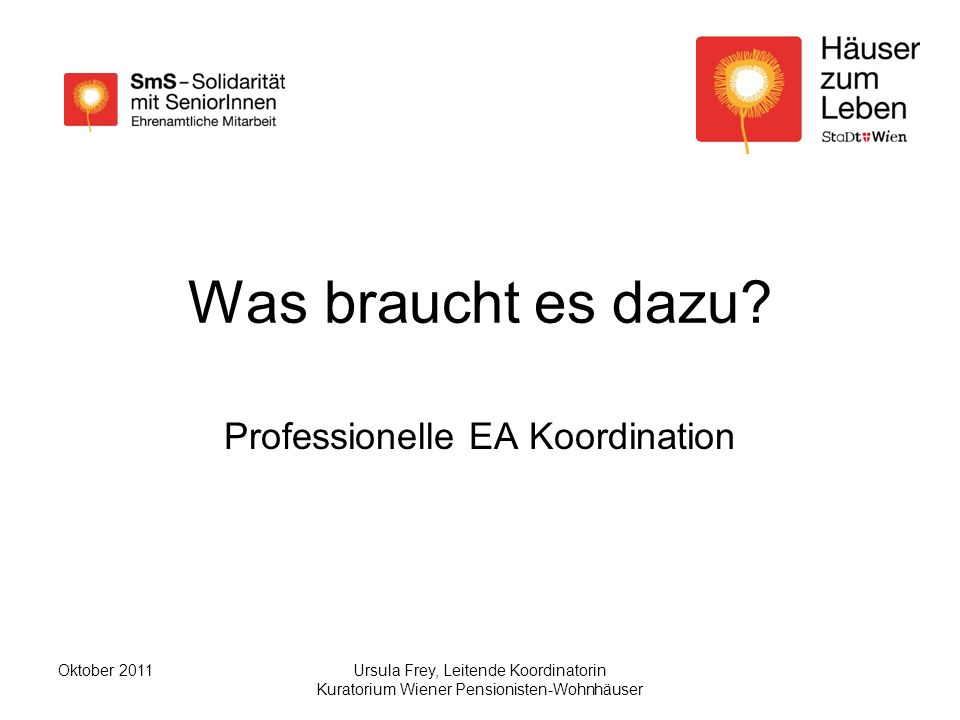 Professionelle EA Koordination