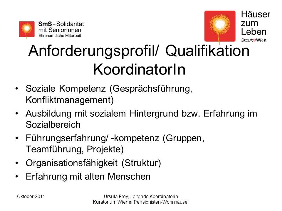 Anforderungsprofil/ Qualifikation KoordinatorIn